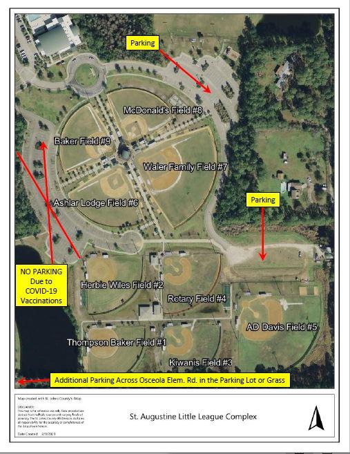 SALL Complex Baseball Field Map #3, 02-12-2021